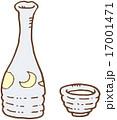 アルコール 日本酒 徳利のイラスト 17001471