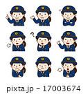 表情_女性警察官 17003674