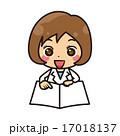 説明する白衣の女性【コミカル・シリーズ】 17018137