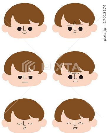 男の子表情のイラスト素材 17018174 Pixta