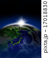 太陽光 光 太陽のイラスト 17018830