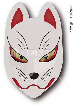 狐面のイラスト素材 17028688 Pixta