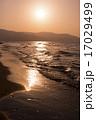 夕日と海(小樽) 17029499