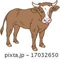 乳牛 丑 ベクターのイラスト 17032650