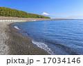 三保の松原からの駿河湾と富士山 17034146