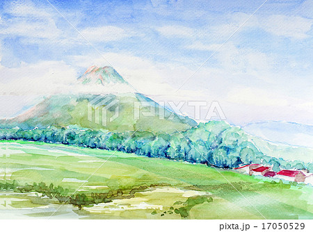 羊蹄山 ニセコ 手書きスケッチ 17050529