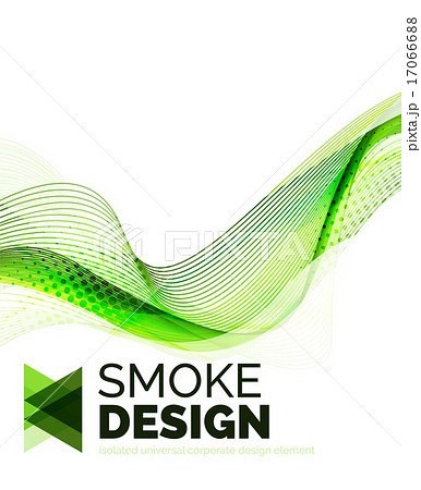 Color smoke wave isolated on whiteのイラスト素材 [17066688] - PIXTA