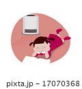読書 ベクター ファンヒーターのイラスト 17070368