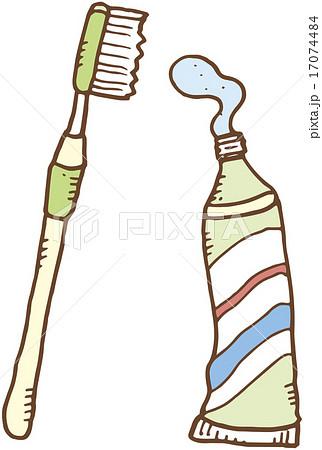 歯ブラシと歯磨き粉のイラスト素材 17074484 Pixta