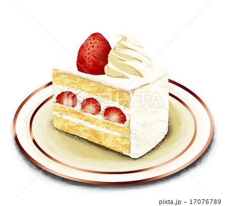 リアルショートケーキのイラスト素材 17076789 Pixta