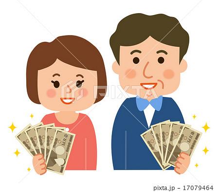 中年夫婦でお金を持つ 17079464