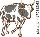 乳牛 丑 ベクターのイラスト 17088362