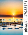 死海のサンセット(ヨルダン、死海東岸) 17088471