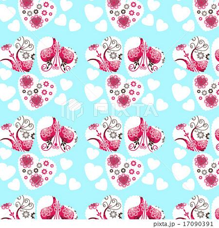 Abstract elegance romantic hearts backdropのイラスト素材 [17090391] - PIXTA