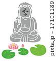 大仏と蓮の花 17101189