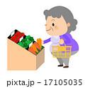 おばあちゃん_スーパーでお買い物 17105035