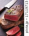ステーキ肉 スレート板 カットの写真 17119713