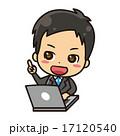 パソコンとビジネスマン【コミカル・シリーズ】 17120540