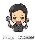 料理をするビジネスマン 17120866