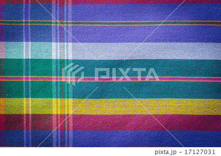 Thai style handcrafted textile made by silk from northeast, Thaiの写真素材 [17127031] - PIXTA
