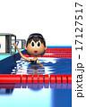 プールの中にいる女性 17127517