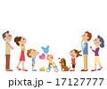 上を見上げる三世代家族 17127777