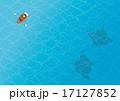 マンタと手漕ぎボート 17127852