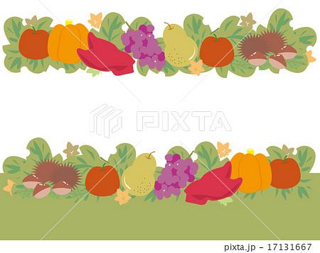 実りの秋のフルーツラインのイラスト素材 17131667 Pixta