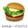 ファーストフード 料理 ハンバーガーのイラスト 17131711
