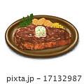 ステーキ 洋食 料理のイラスト 17132987