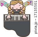 グランドピアノをひく女性 17135501