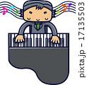 グランドピアノをひく男性 17135503