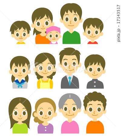 色々な家庭 家族 17143517