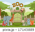 Zoo gate with animals 3 17143889