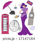 Lady and vector elements of London 17147164