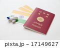パスポートとインドの国旗 17149627
