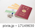 パスポートとインドの国旗 17149630