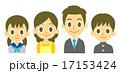 核家族 四人家族 家族のイラスト 17153424