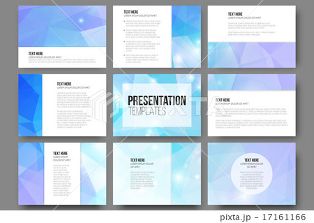 set of 9 vector templates for presentation slides abstract triangle