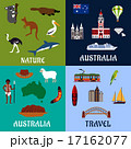 Australia flat travel symbols and icons 17162077