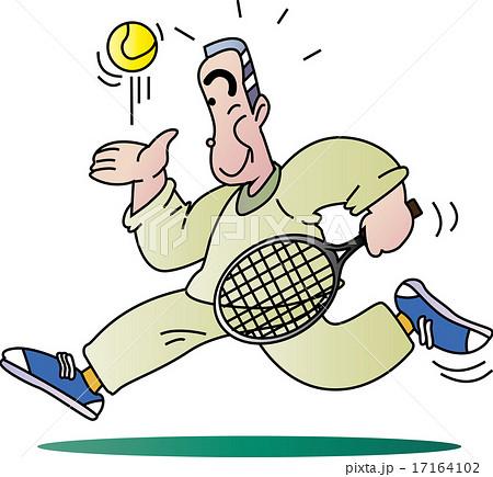 テニスと老人 17164102