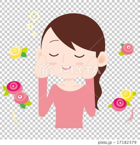 女性 上半身 花の香り 17182379