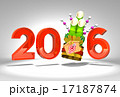 Kadomatsu And 2016 On White Background 17187874