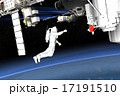 無重力 宇宙飛行士 国際宇宙ステーションのイラスト 17191510