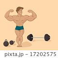 muscular man bodybuilder (inflated athlete) 17202575