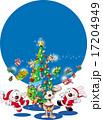 クリスマスツリーとトナカイ 17204949