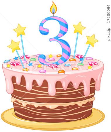 Art Cake Kuwait Number : Birthday Cake??????? [17206094] - PIXTA