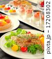 パーティーのテーブル 黒背景 17208302