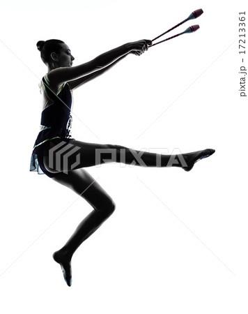 Rhythmic Gymnastics teeenager girl woman silhouette