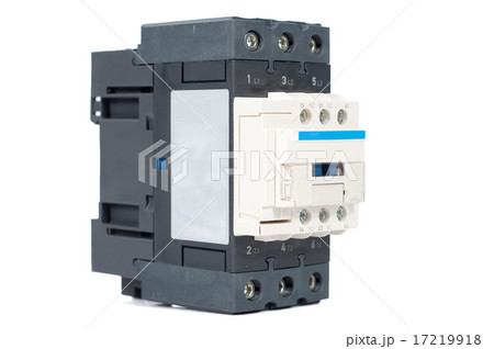3 phase contactor isolated on white backgroundの写真素材 [17219918] - PIXTA